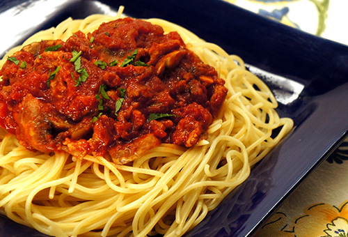 Ronzoni Angel Hair With Meat Sauce The Pasta That Calls America