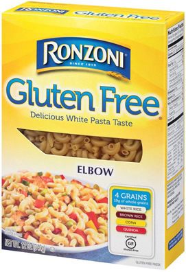 Elbow Pasta Made With The Unique Multigrain Blend Of White Rice Brown Rice Corn And Quinoa Which Give Ronzoni Gluten Free Pasta Its Delicious White Pasta