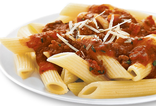Ronzoni® - Penne with Quick Meat Sauce - The Pasta That ...