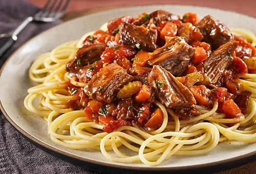 Tuscan Braised Beef Spaghetti
